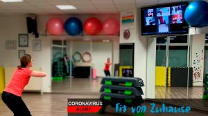 Fit von Zuhause, Coronavirus, Sport von Zuhause, Live-Stream, Online-Sport, Zoom